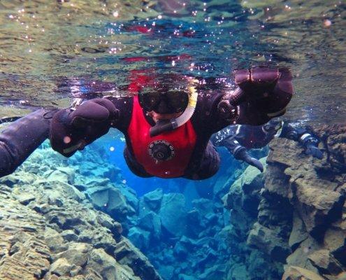 Snorkeling Silfra in Iceland - Danielle Desir