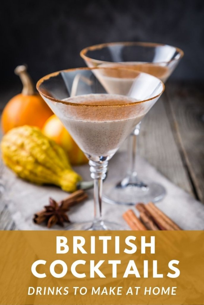 Easy British cocktails recipes to make at home.