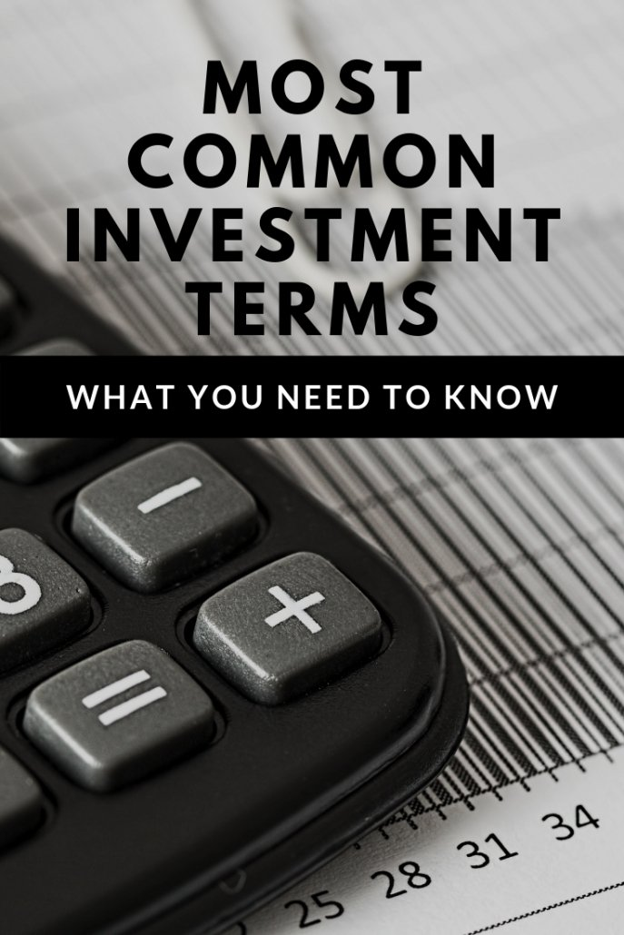 Most Common Investment Terms You Should Know as a New Investor