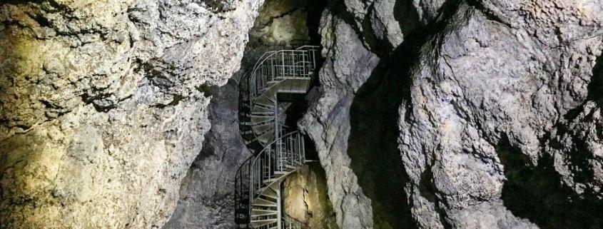 Lava caving in Iceland: Vatnshellir Cave in Snæfellsnes peninsula