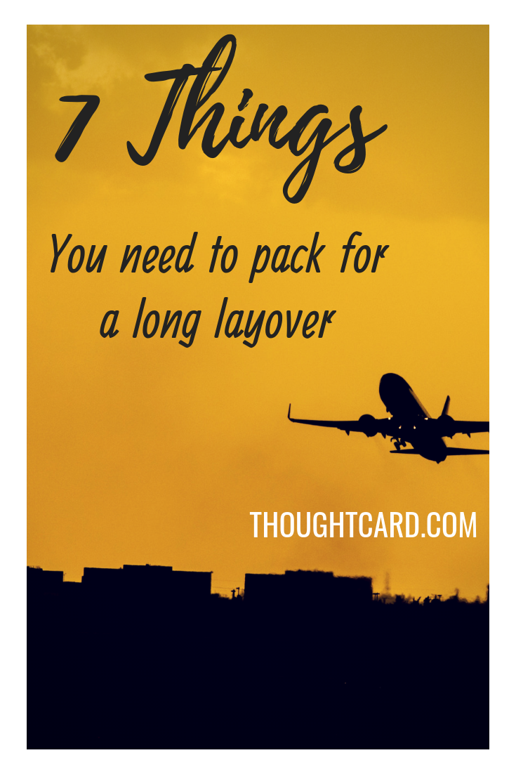 Did you know that layovers can last anywhere from 30 minutes to 23 hours? If you plan to spend a few hours at the airport, pack accordingly. Here are seven layover tips and things you should pack to help you feel comfortable, fuel your body and fight boredom at the airport. #layover #layovertips #longlayover