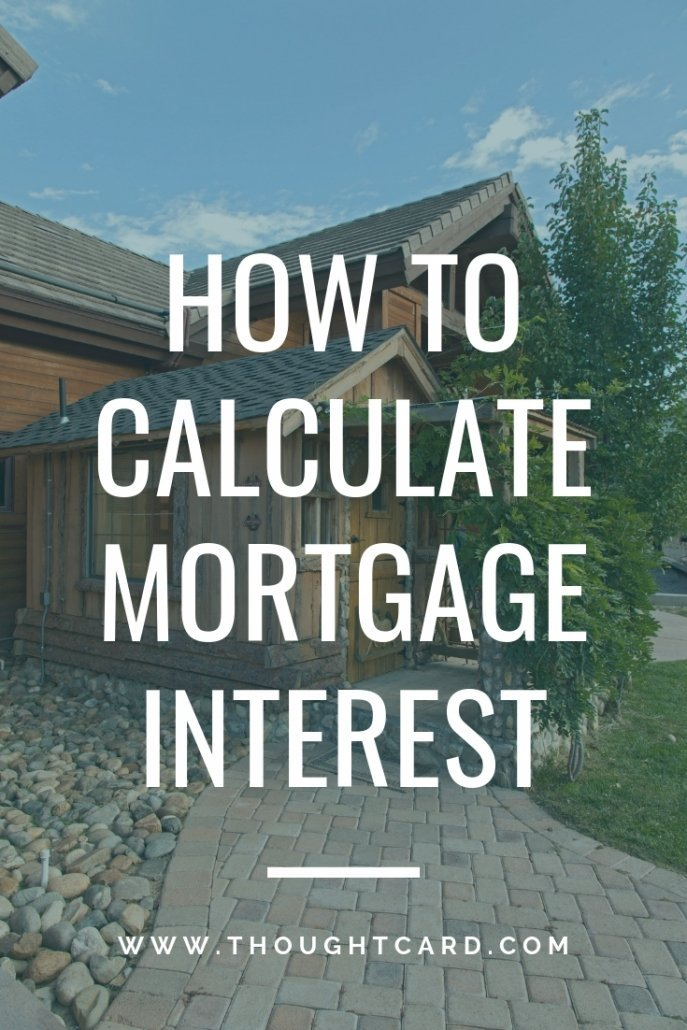 Step by step how to calculate mortgage interest per day, month and year.