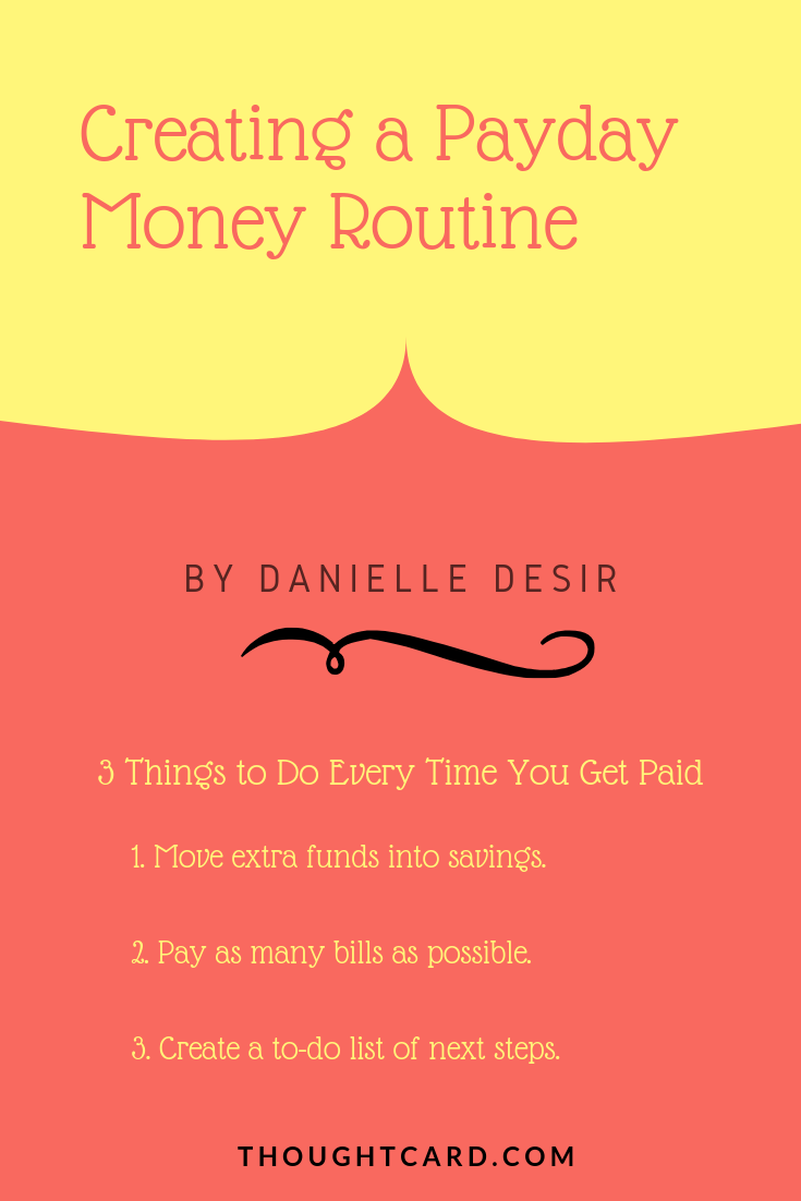 Payday Money Routine: What to do on payday?