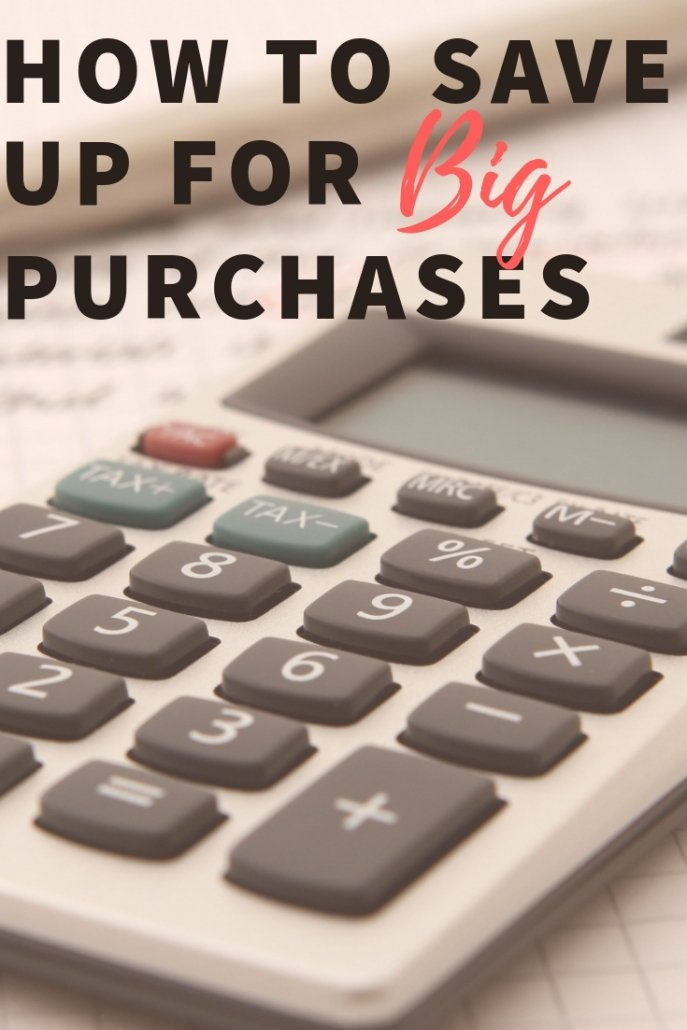 Tips for saving for big purchases.