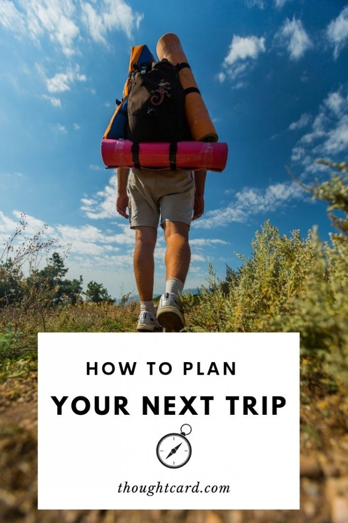 Tips for planning a trip.