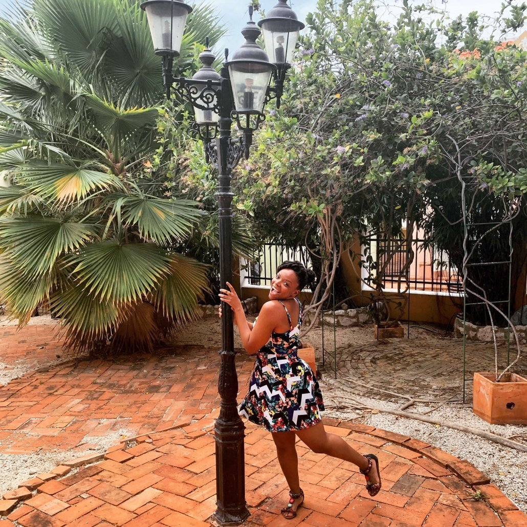 Danielle Desir at the Kura Hulanda Museum in Curacao.