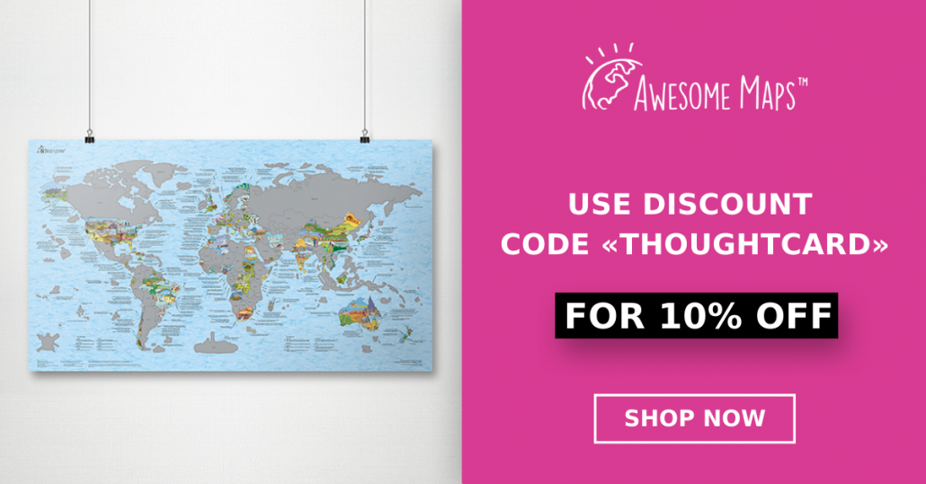 "Awesome Maps Coupon Code ""ThoughtCard"""