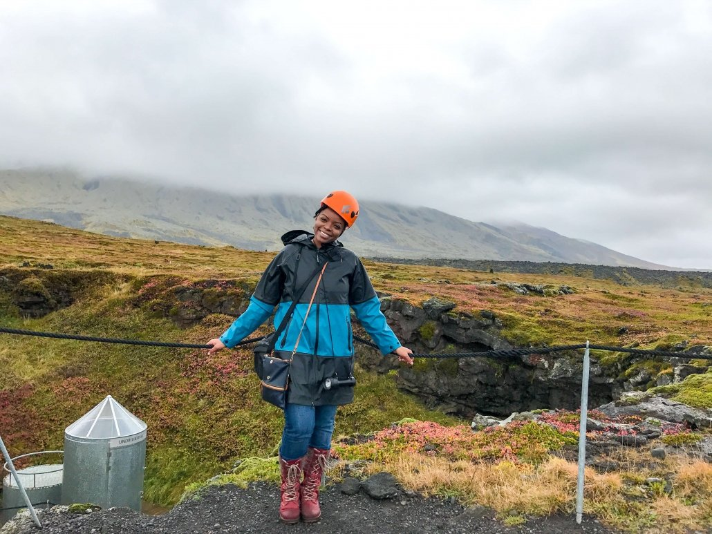 Black girl solo trip to Iceland.