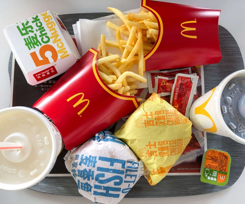 How much does McDonalds cost in China?