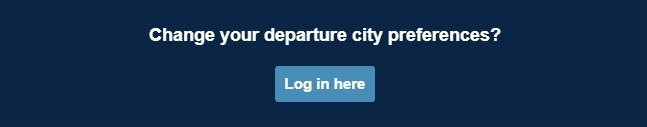 How to change Thrifty Traveler departure city preferences.