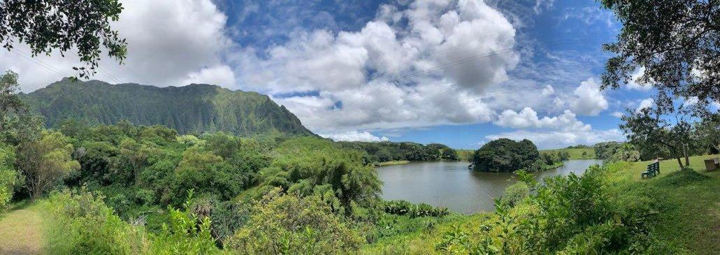 Hoʻomaluhia Botanical Garden Jurassic Park Oahu Hawaii